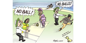 cartoon Police No Ball...s!