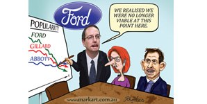 Ford Australia faces reality of declining popularity of Falcon... Gillard and Abbott can't take the hint!
