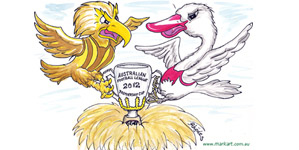 ... and the Swans pinch the Cup from the favoured Hawks!