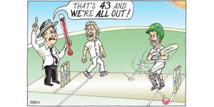 cartoon Hot cricket Out