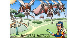 cartoon Movember Mosquitos