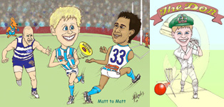 caricature football idol